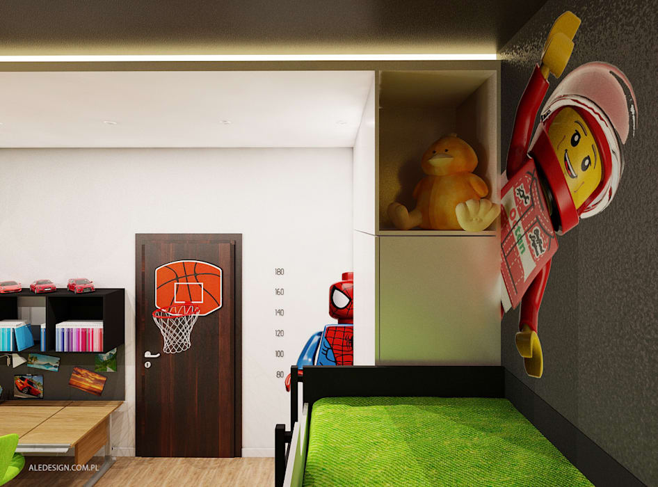 Pokój chłopców w wieku 8 i 5 lat Nowoczesny pokój dziecięcy od Ale design Grzegorz Grzywacz Nowoczesny