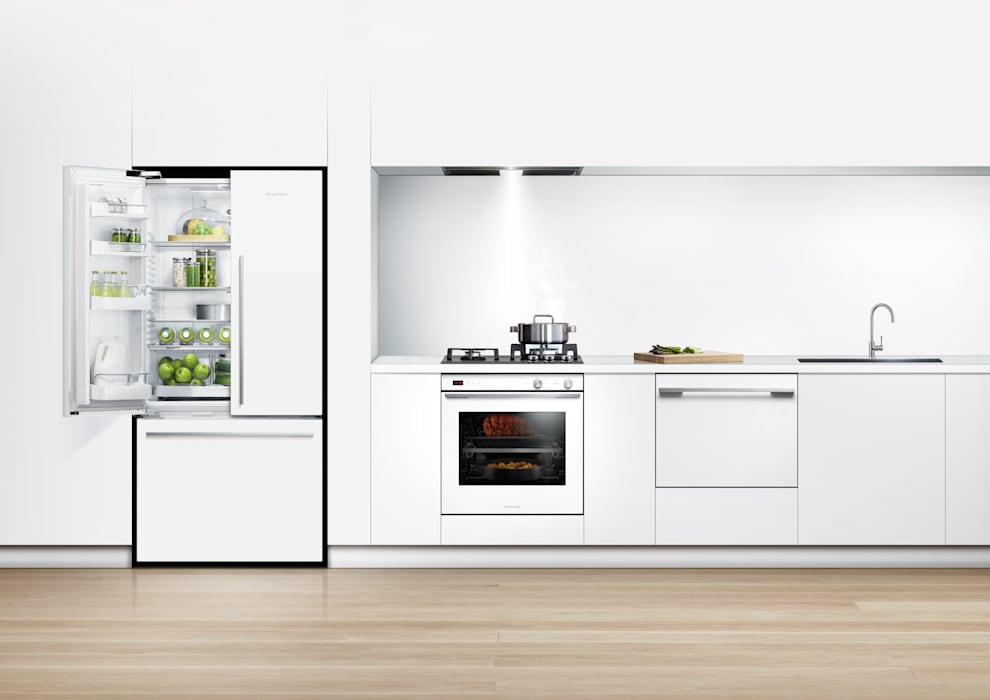 New Flat white range of fridge freezers: classic  by Fisher & Paykel, Classic