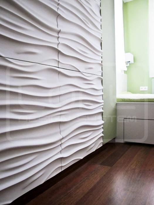 Wellen schlagende wände: moderne arbeitszimmer von loft design ...