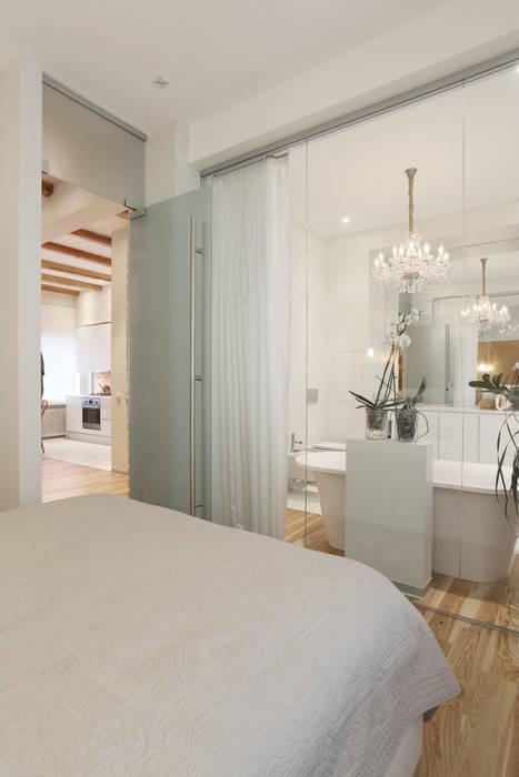 Единое пространство. Спальня в скандинавском стиле от Double Room Скандинавский