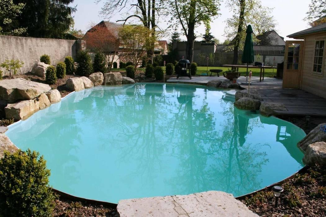Swimming pool mediterrane pools von v&s teich, garten und ...