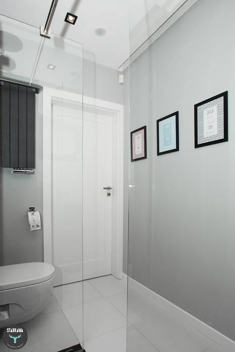Łazienka gościnna : styl , w kategorii Łazienka zaprojektowany przez stabrawa.pl