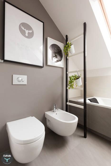 Łazienka prywatna : styl , w kategorii Łazienka zaprojektowany przez stabrawa.pl