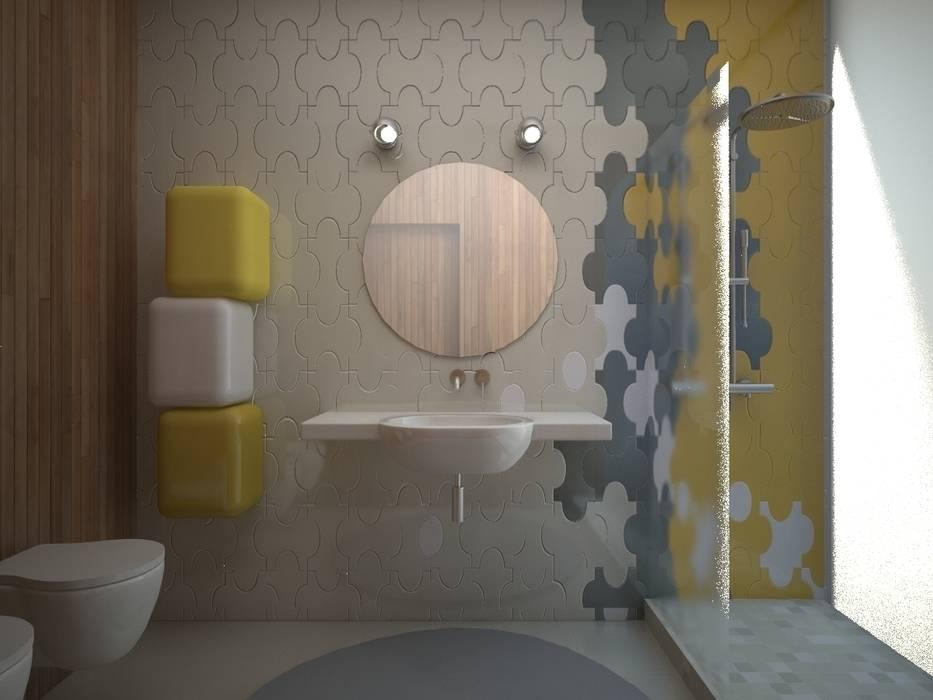 Большая ванная комната Ванная комната в стиле минимализм от 16dots Минимализм