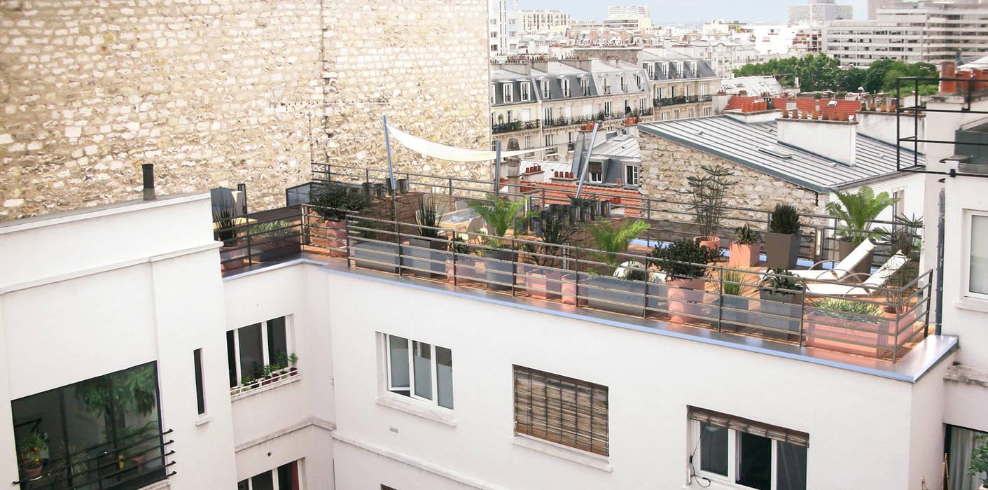 Vue Depuis L Immeuble Voisin Terrasse De Style Par Rm Architecte