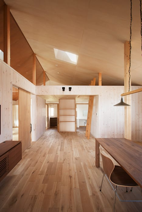 近江八幡の家・ダイニング タクタク/クニヤス建築設計 ラスティックデザインの リビング