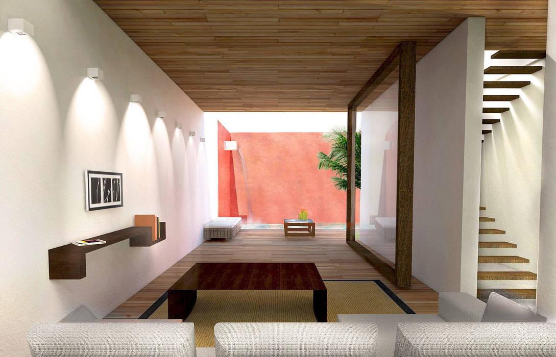 Salon : Salon de style de style Moderne par Interlude Architecture