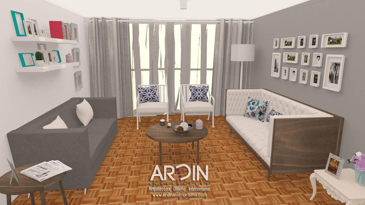Salas de estar ecléticas por ARDIN INTERIORISMO Eclético