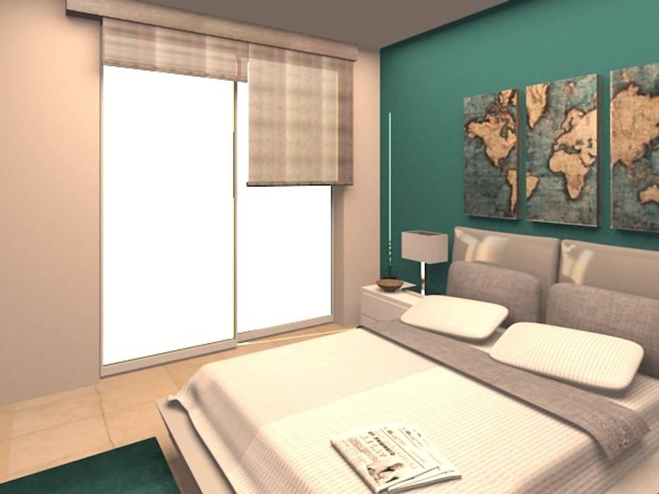 AV. CENTRAL Dormitorios modernos de ARDIN INTERIORISMO Moderno