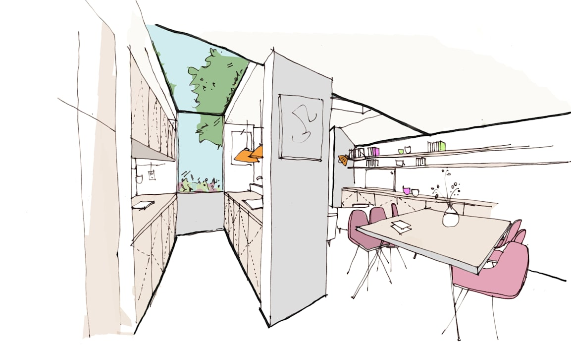 Interior sketch view by Fraher and Findlay