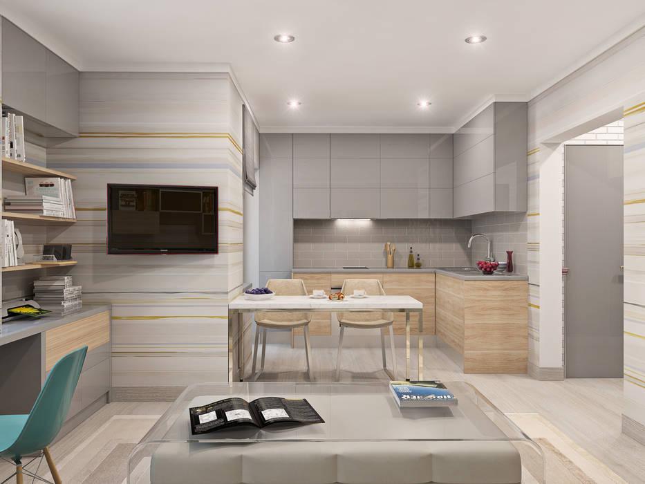Студия. Москва Кухня в стиле минимализм от Roberts Design Минимализм