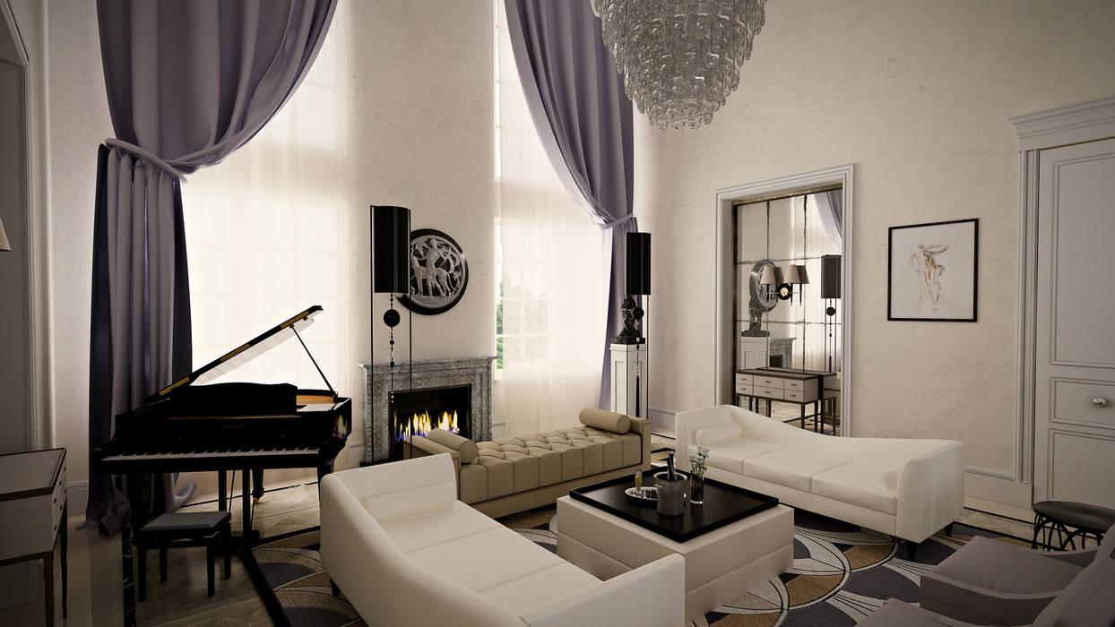 Проект загородного дома Гостиная в классическом стиле от Roberts Design Классический