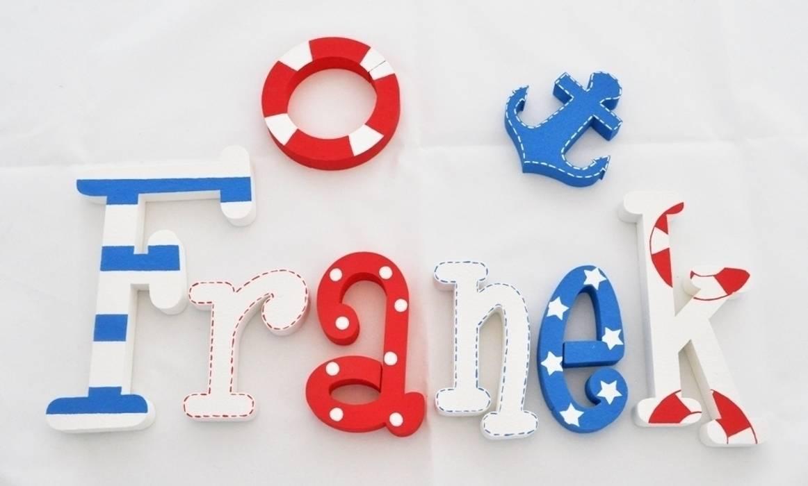 Inteligentny Ręcznie malowane litery przestrzenne 3d z imieniem dziecka: styl BZ91
