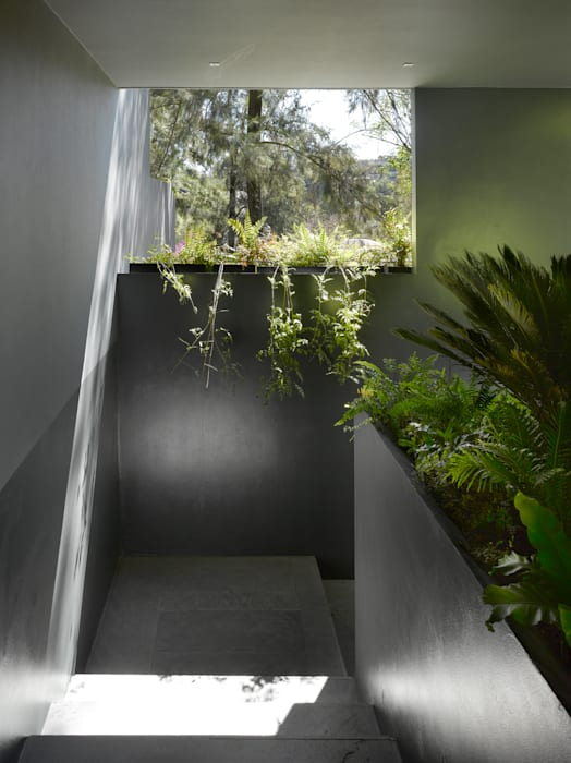 Casa Barrancas Pasillos, vestíbulos y escaleras modernos de Ezequiel Farca Moderno