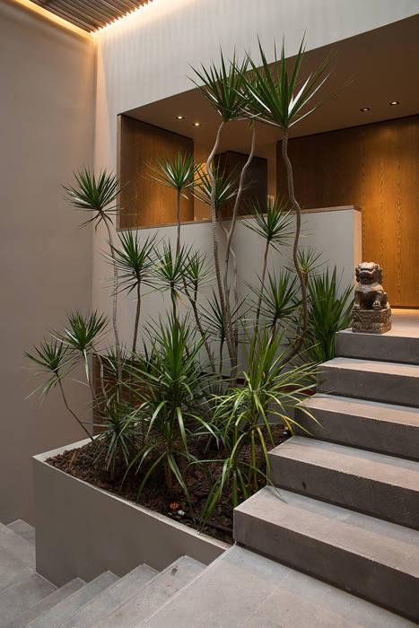 Casa Barrancas: Pasillos y recibidores de estilo  por Ezequiel Farca, Moderno
