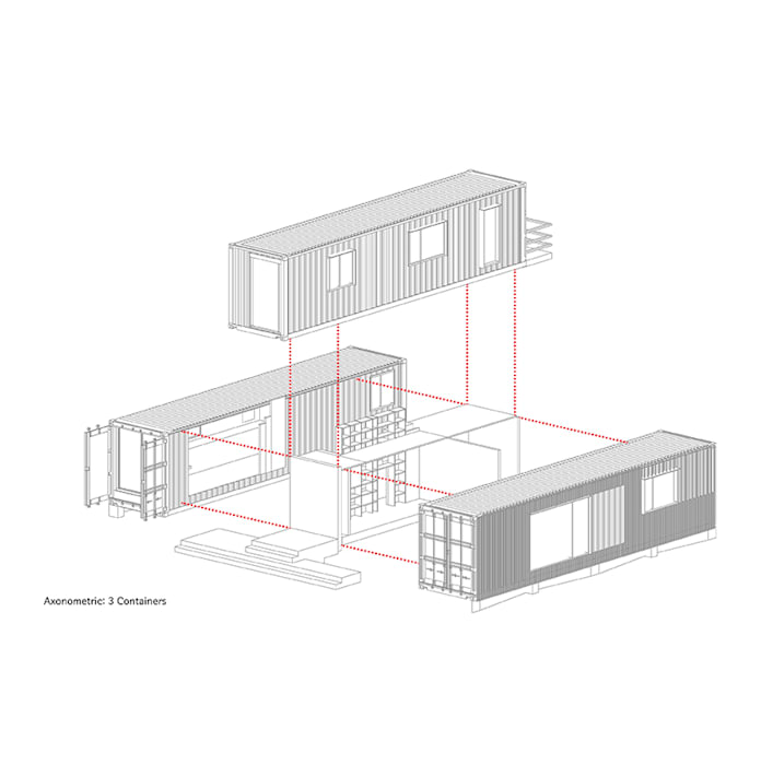 Nemo House, Container Residence:  Houses by thinkTREE Architects and Partners