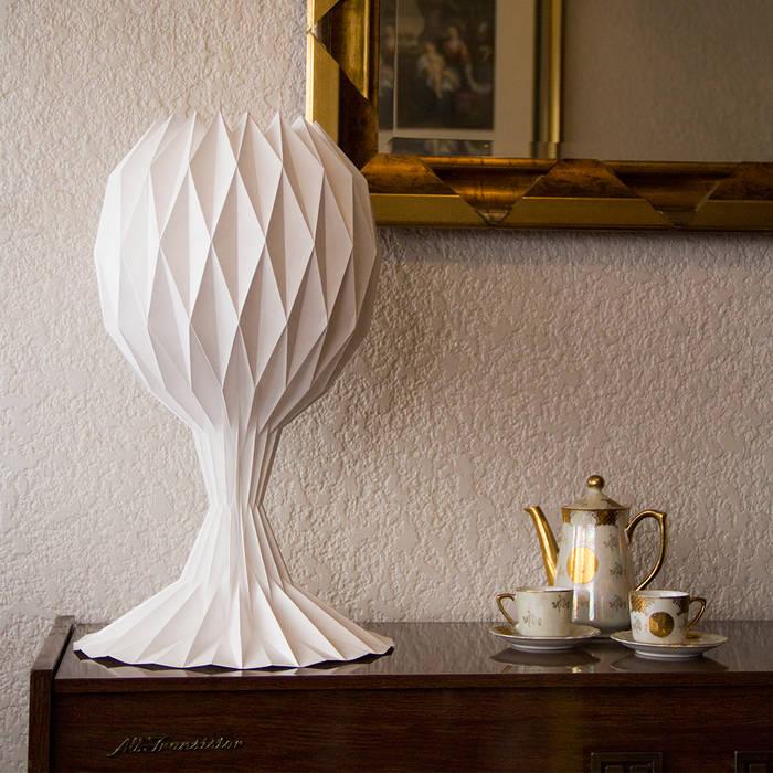 白SHIRO table lamp_gray shading di metrocuadro-design Minimalista