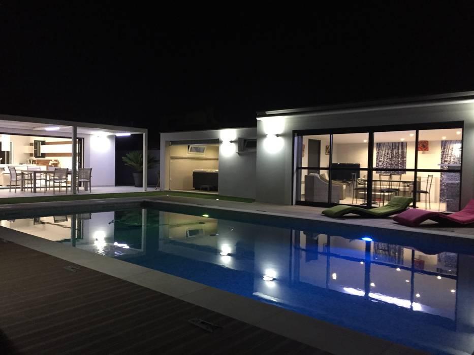 Pool House Piscine et terrasse Piscine minimaliste par JbHouseDesigner Minimaliste