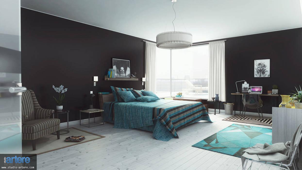 Camera da letto in stile  di Studio Artere
