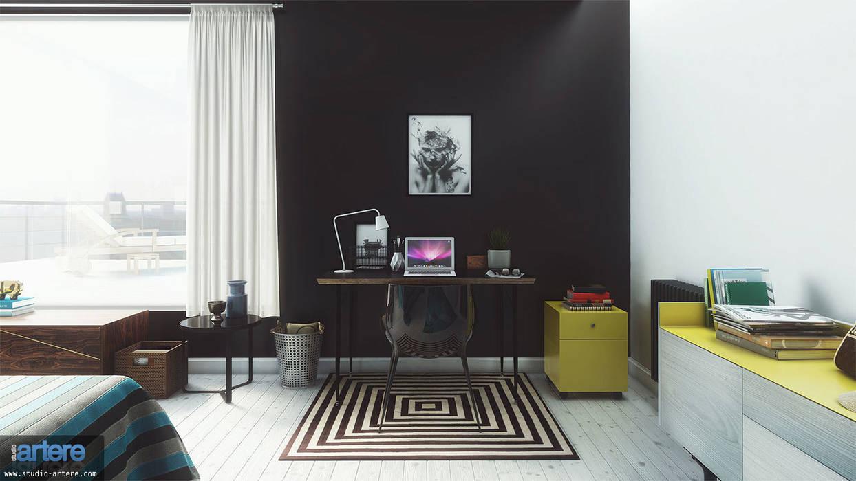 Modern Blue vue 7: Chambre de style  par Studio Artere