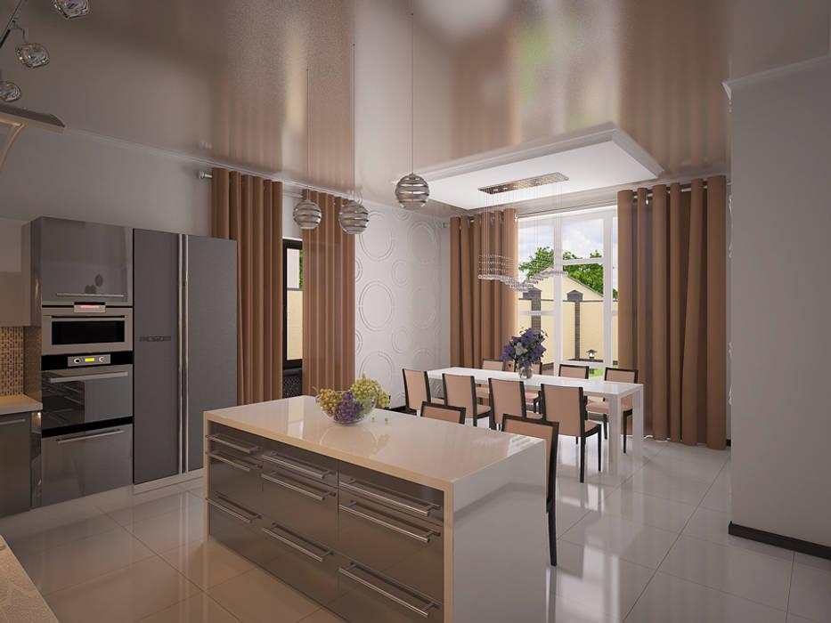 дизайн интерьера Кухня в стиле минимализм от homify Минимализм
