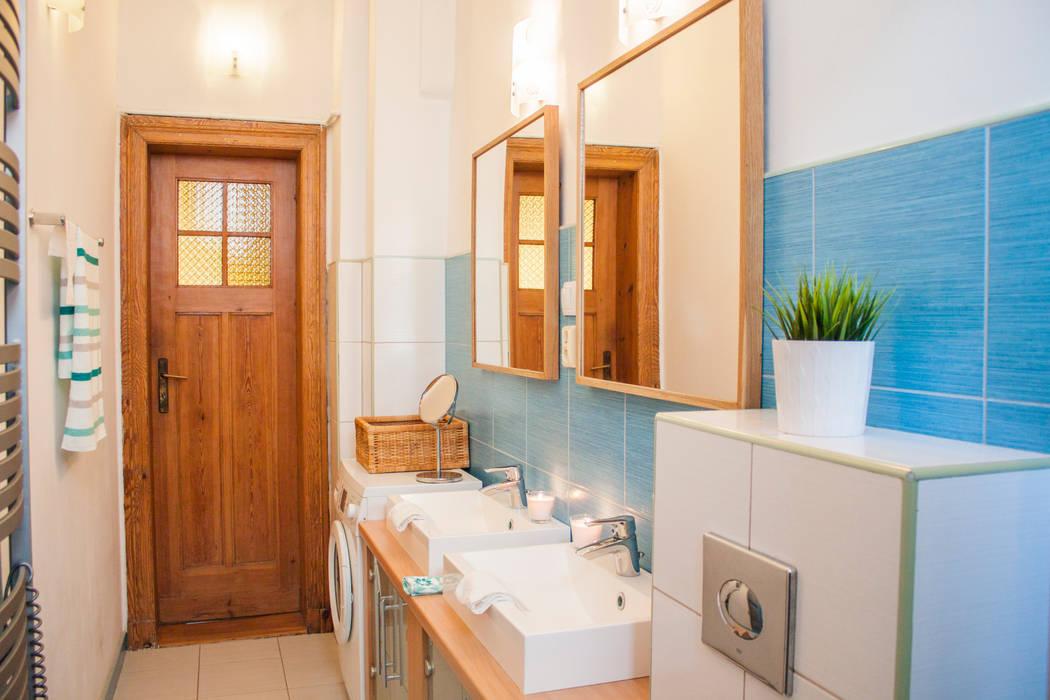現代浴室設計點子、靈感&圖片 根據 Studio projektowe SUZUME 現代風
