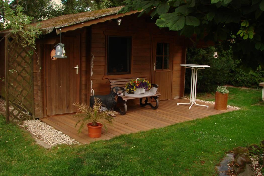 gartenhaus und terrasse mit fiberon wpc dielen terrasse von bego holz und stahl homify. Black Bedroom Furniture Sets. Home Design Ideas