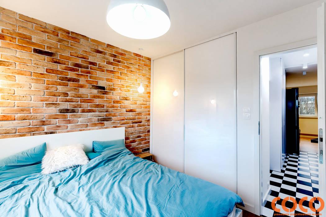 Retro Warszawa: styl , w kategorii Sypialnia zaprojektowany przez COCO Pracownia projektowania wnętrz