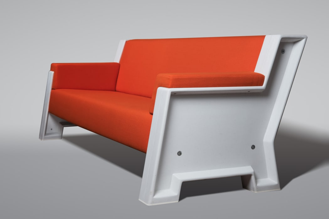 Concrete Sofa White:   door Reduxdesign