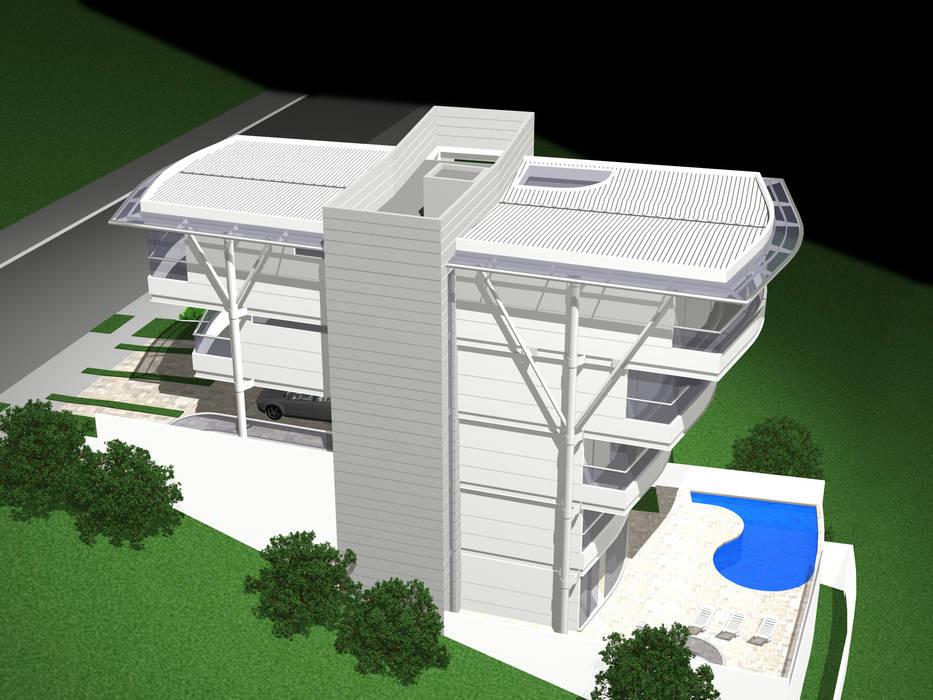 Residência Otávio Gimenes II: Casas  por Douglas Piccolo Arquitetura e Planejamento Visual LTDA.,