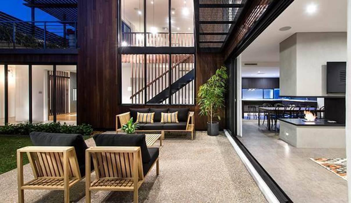 Alfresco, Outdoor Living, Patio, Deck by Moda Interiors, Perth, Western Australia โดย Moda Interiors สแกนดิเนเวียน