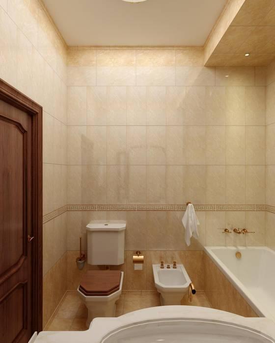 Ванная комната в классическом стиле.: Ванные комнаты в . Автор – Дизайн студия 'Exmod' Павел Цунев