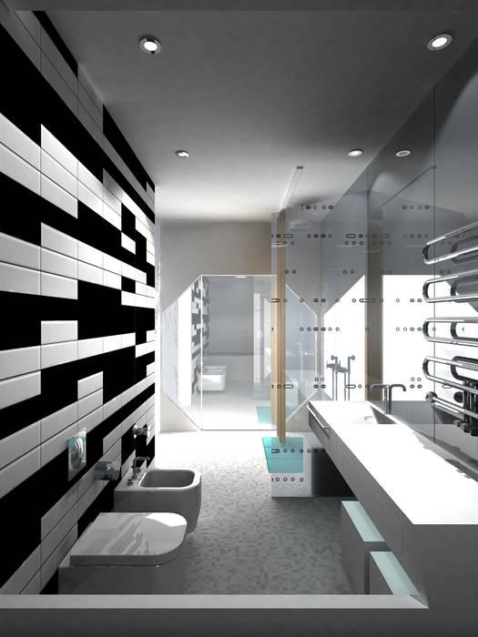 Ванная комната Ванная комната в стиле минимализм от (DZ)M Интеллектуальный Дизайн Минимализм