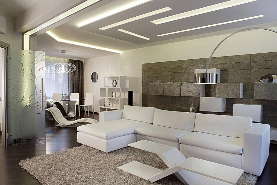 Гостиная: Гостиная в . Автор – Studio Design-rise