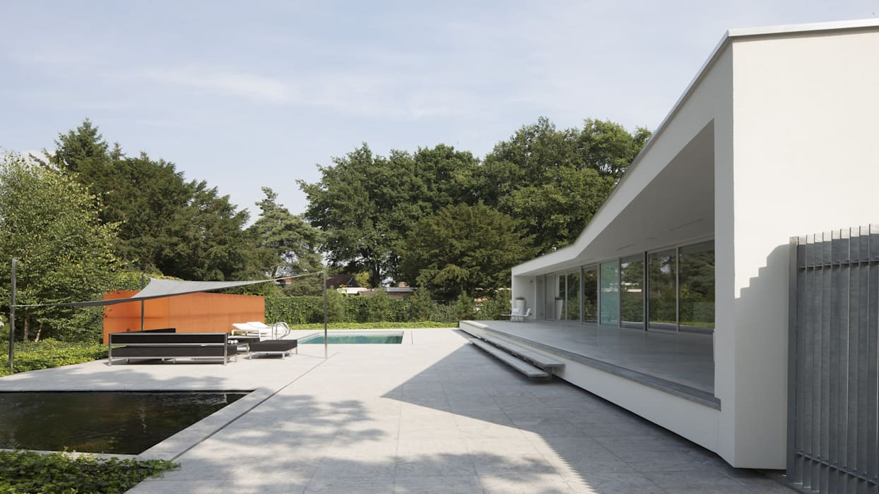 Eigentijdse bungalow terras door lab architecten homify