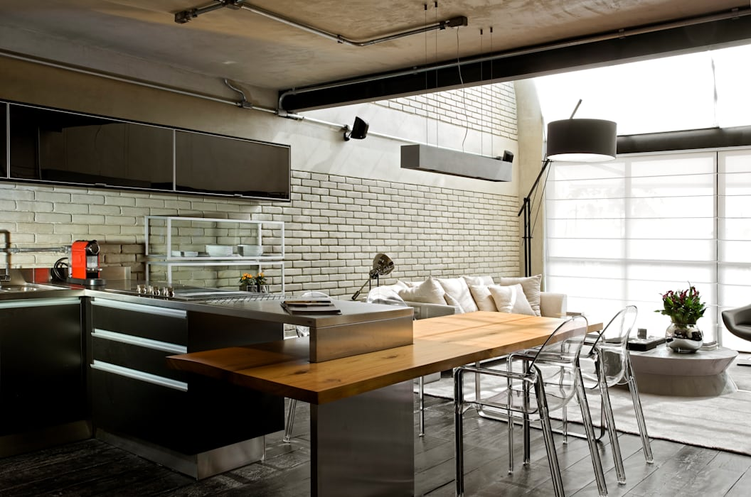 Industrial Loft Cozinhas industriais por DIEGO REVOLLO ARQUITETURA S/S LTDA. Industrial