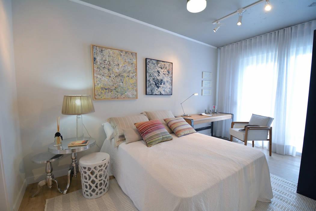Residências Praianas Quartos tropicais por Michele Moncks Arquitetura Tropical