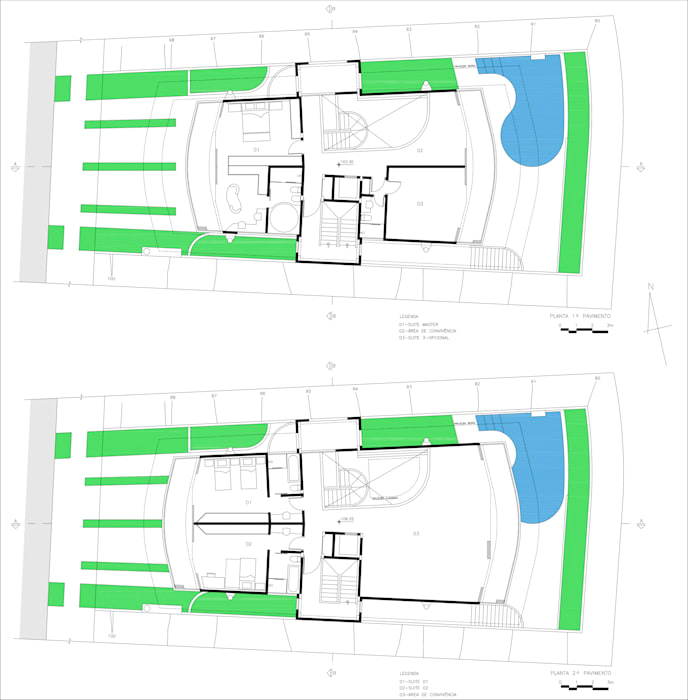 Residência Otávio Gimenes II Casas modernas por Douglas Piccolo Arquitetura e Planejamento Visual LTDA. Moderno