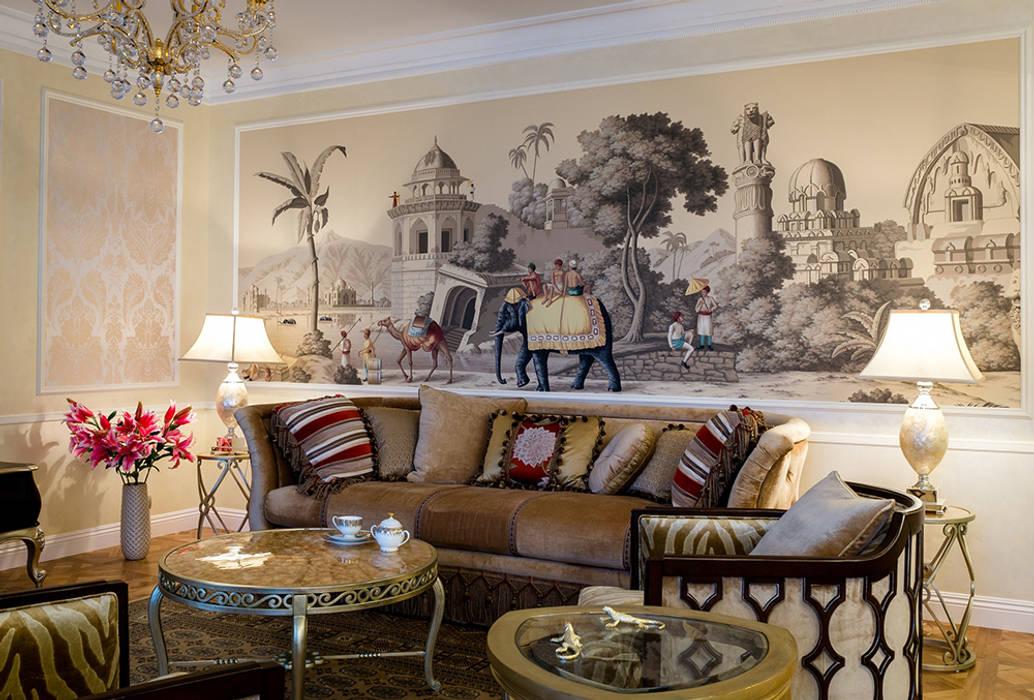 Ruang Keluarga Gaya Kolonial Oleh MM-STUDIO Kolonial