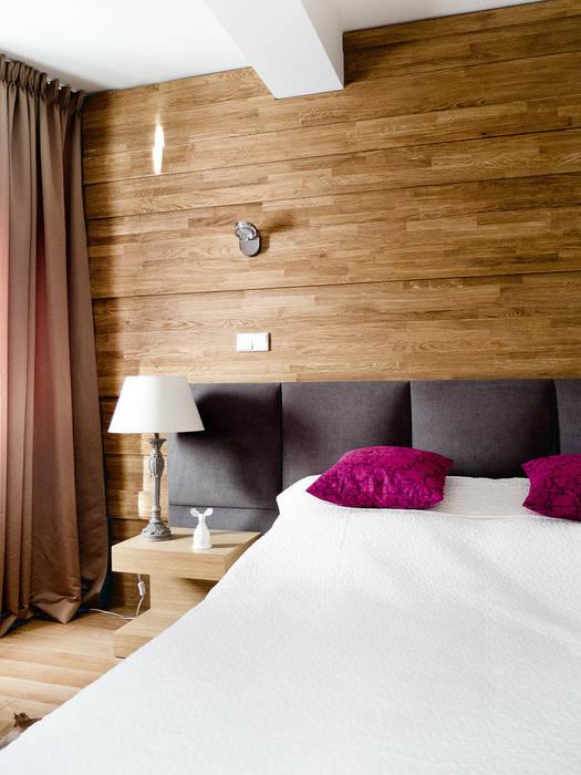 Apartament w Zakopanem - sypialnia: styl , w kategorii Sypialnia zaprojektowany przez Jacek Tryc-wnętrza