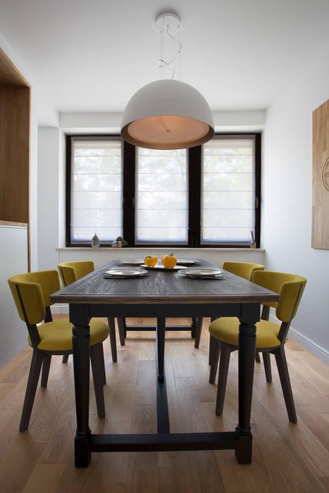 Apartament w Zakopanem - jadalnia: styl , w kategorii Jadalnia zaprojektowany przez Jacek Tryc-wnętrza