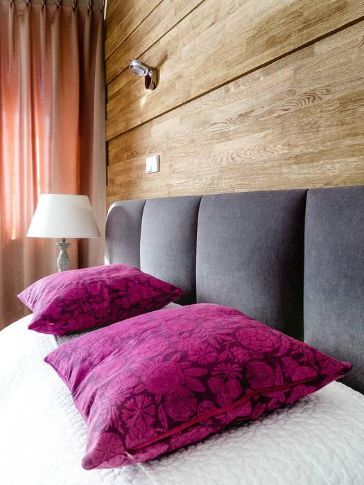 Apartament w Zakopanem - sypialnia Minimalistyczne ściany i podłogi od Jacek Tryc-wnętrza Minimalistyczny