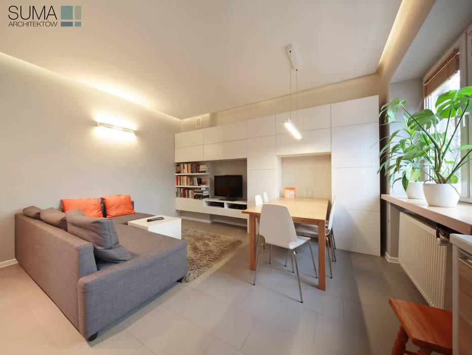 FAMILY_ONE Nowoczesny salon od SUMA Architektów Nowoczesny
