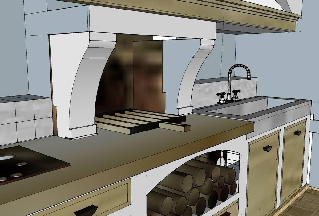 Dettaglio di progetto: Cucina in stile in stile Mediterraneo di Creazionedatmosfere