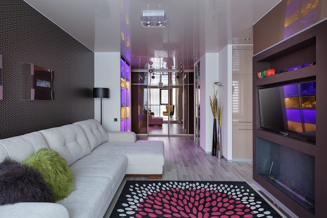 Гостиная Гостиная в скандинавском стиле от (DZ)M Интеллектуальный Дизайн Скандинавский