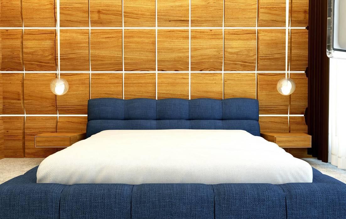 GN İÇ MİMARLIK OFİSİ – Yatak Odası:  tarz Yatak Odası, Modern