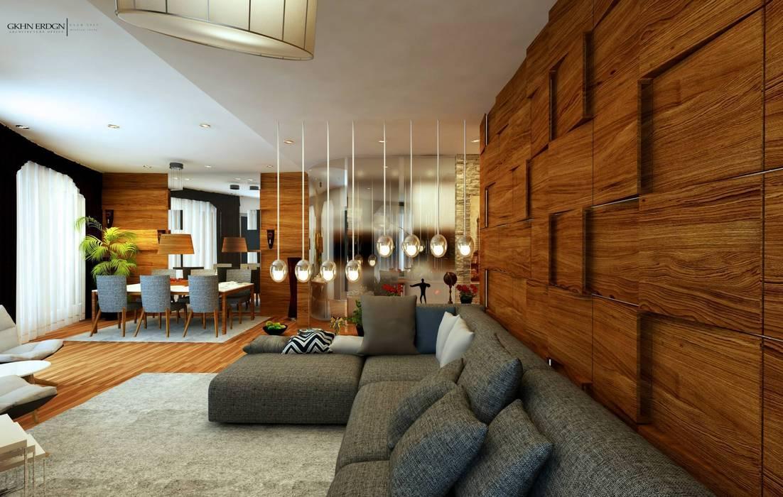 Ruang Keluarga oleh GN İÇ MİMARLIK OFİSİ, Modern