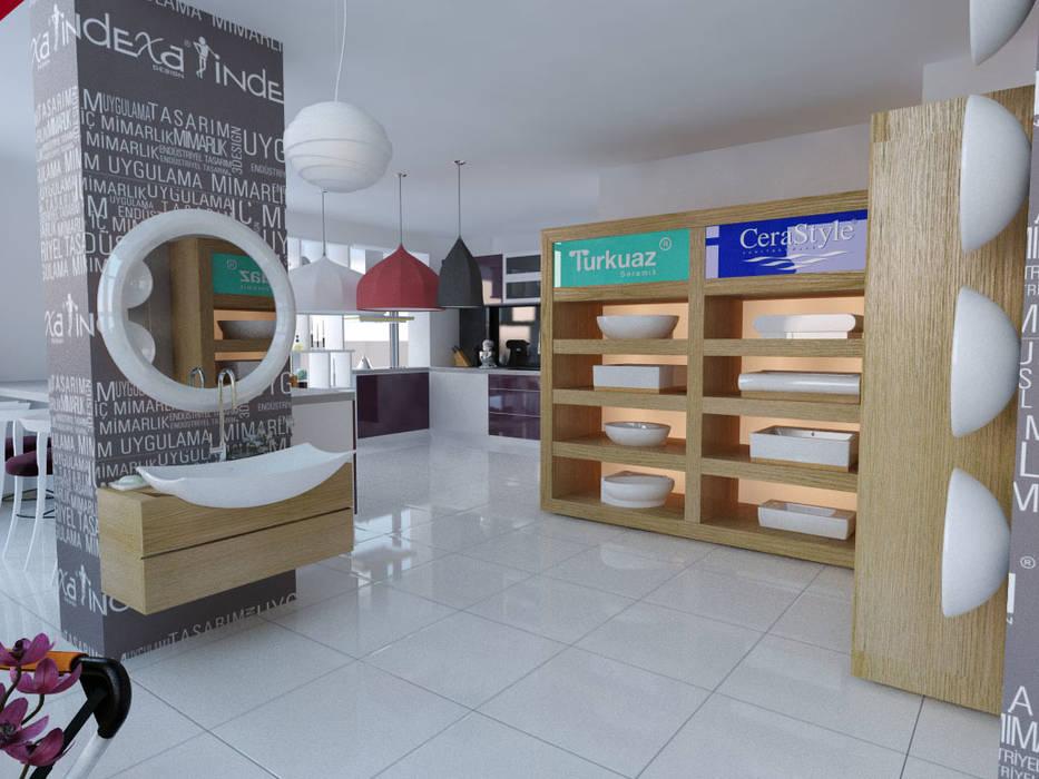 İNDEKSA Mimarlık İç Mimarlık İnşaat Taahüt Ltd.Şti. – İNDEKSA İÇ MİMARLIK:  tarz Dükkânlar, Modern