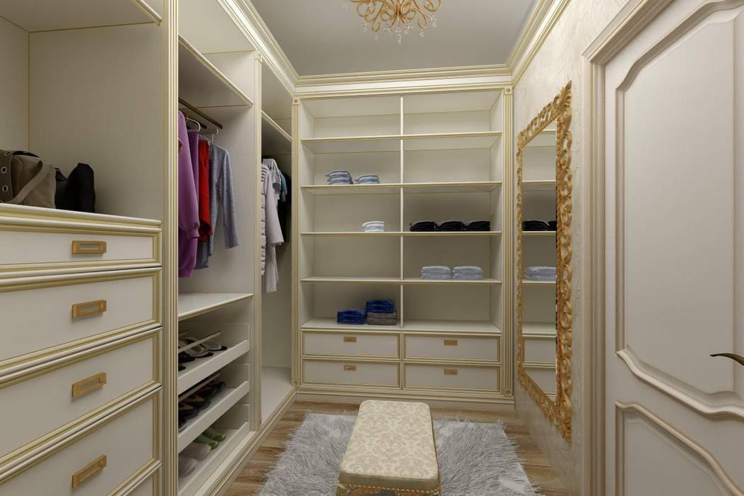 Дизайн гардеробной: Гардеробные в . Автор – Цунёв_Дизайн. Студия интерьерных решений.