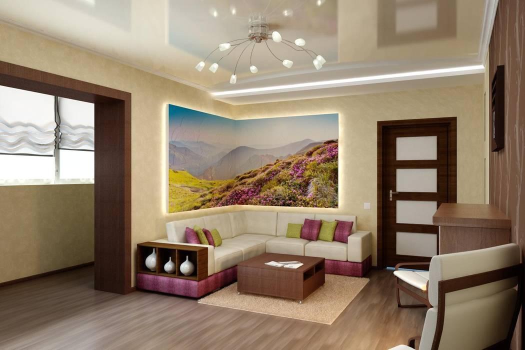 Дизайн гостиной в современной классике.: Гостиная в . Автор – Цунёв_Дизайн. Студия интерьерных решений., Классический